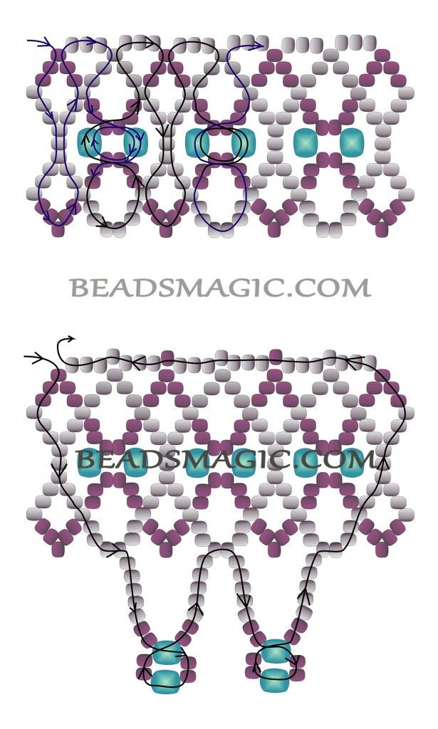 Free Beading Necklace Tutorial Pattern Instructions 2 Beaded