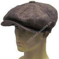 Peaky Blinders Newsboy Gatsby Cap Hat Black Flat 8 Panel BakerBoy Mens Boys