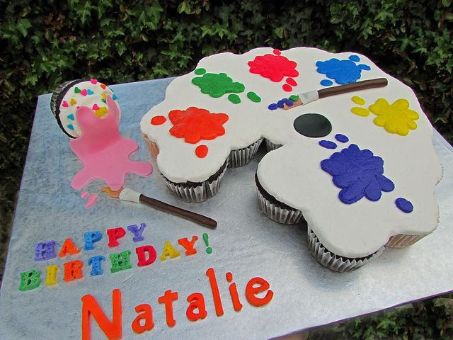 Paint Palette Pull Apart Cake | Flickr - Photo Sharing!