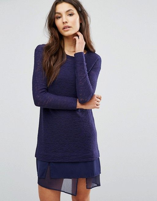 ASOS 2-in-1 layer sweater dress | Dressy | Fashion ...