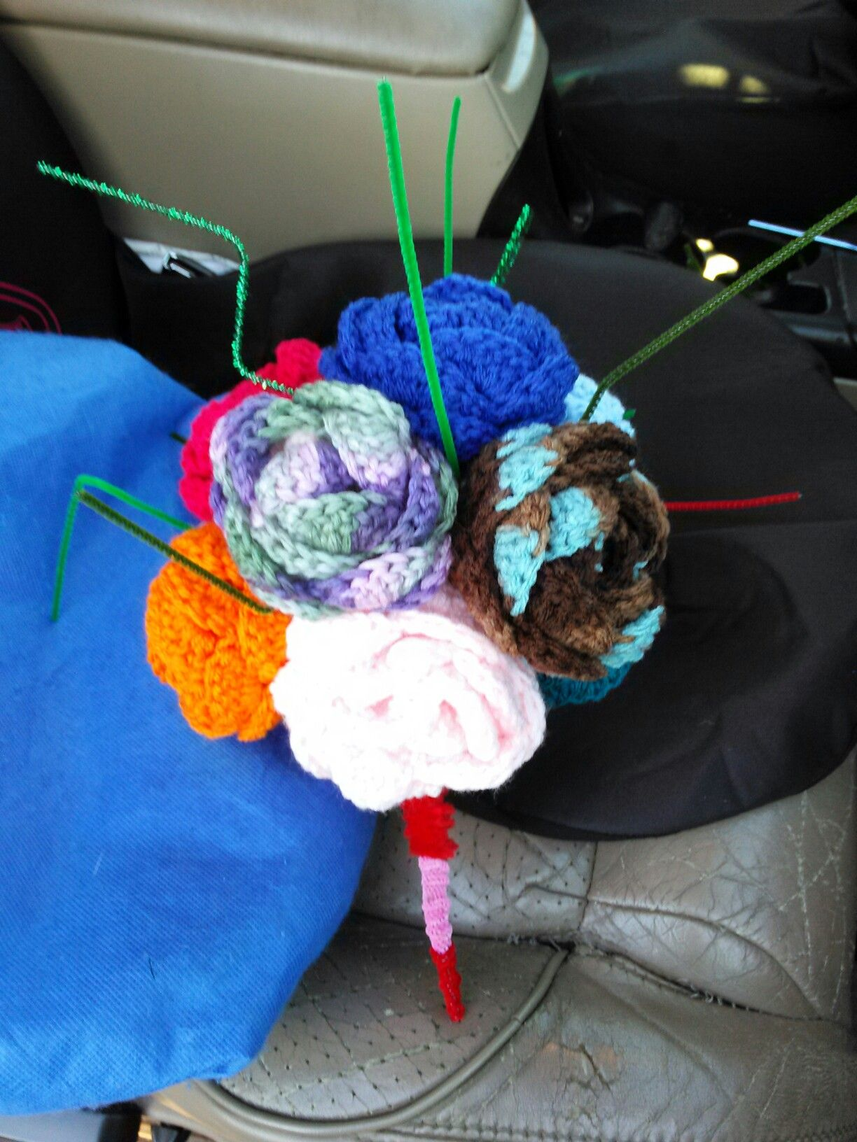 I made this crochet flower bouquet pinterest flower bouquets