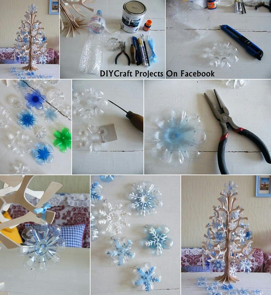 Xmas snowflake ornament made out of plastic