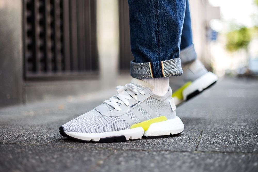 quality design 134dc 7cc5d adidas POD-S3.1   Grey Two Shock Yellow White   Mens Trainers  B37363    adidas  RunningShoes