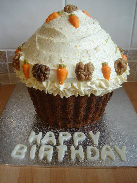 Giant Carrot Cake Cupcake Perfect For Jess Pearl Goss Birthday
