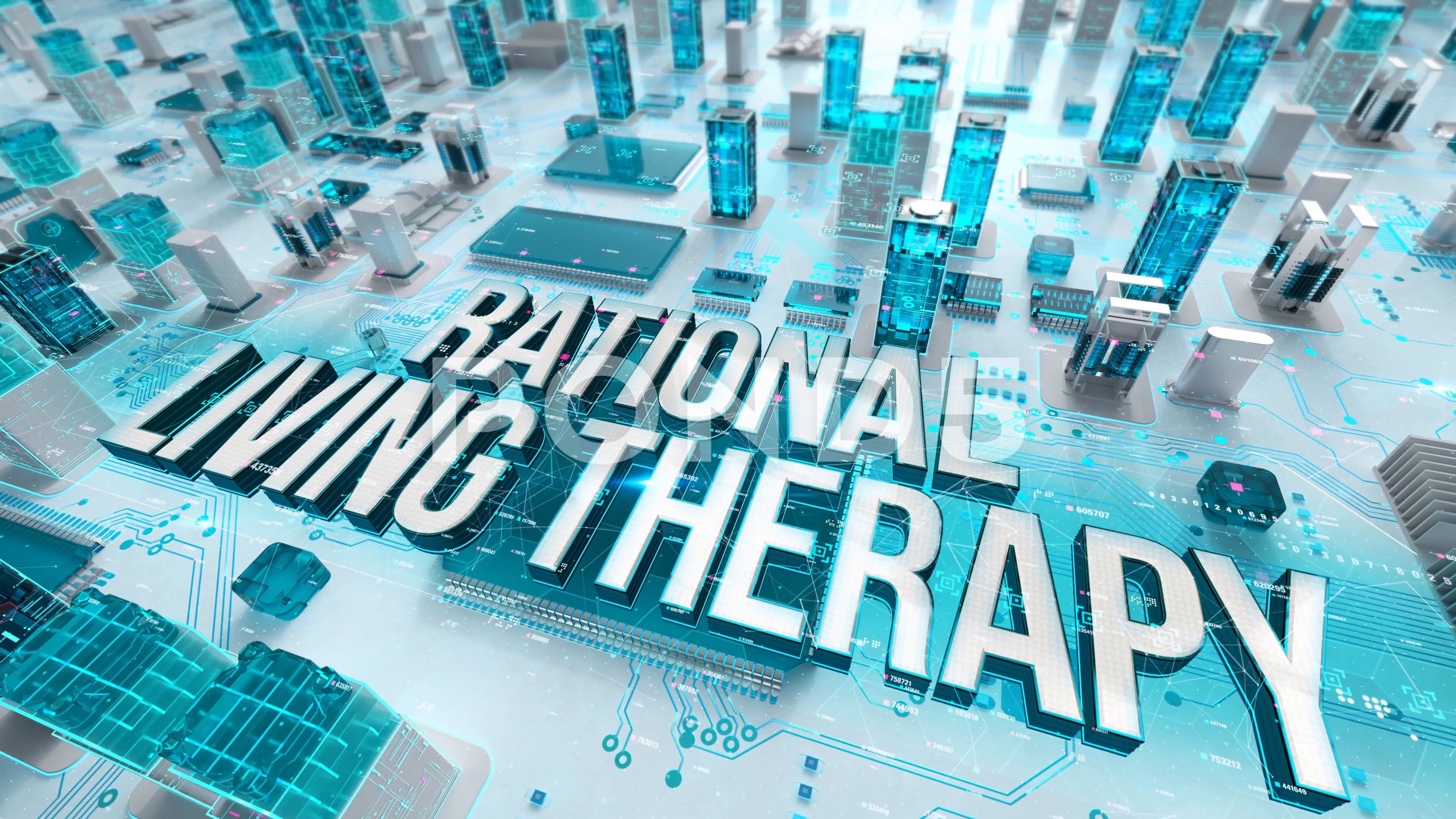 Rational Living Therapy With Medical Digital Technology