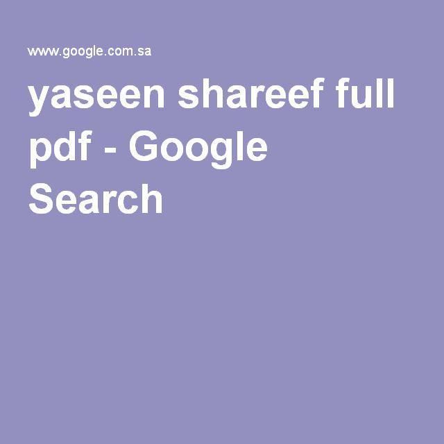 Yaseen Shareef Full Pdf