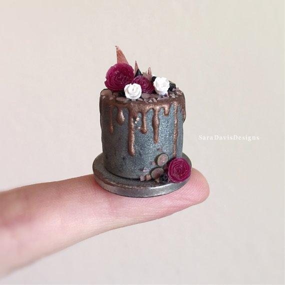 1:12 Dollhouse DIY Miniature Forest Cake Fake Food Cake Toys Decorative CrHFFS