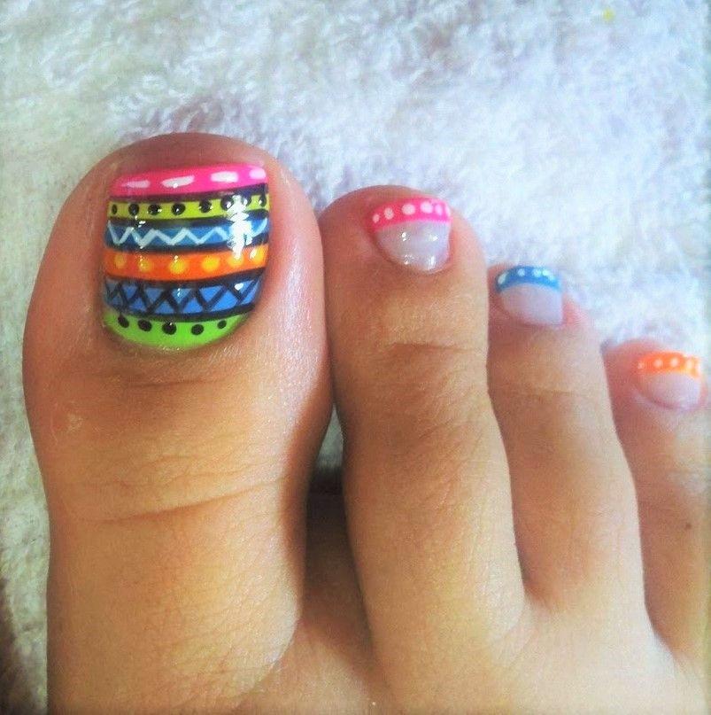resultado de imagen para estilos de uñas para pies | uÑas