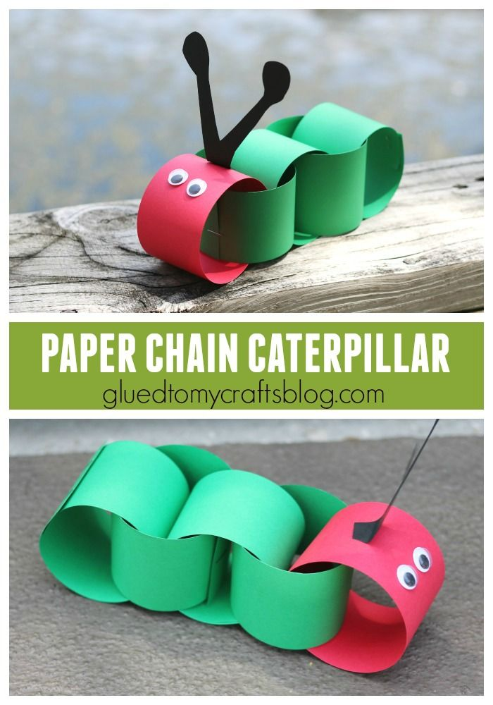 paper chain caterpillar kid craft arts and crafts crafts for kids glue crafts toddler crafts. Black Bedroom Furniture Sets. Home Design Ideas