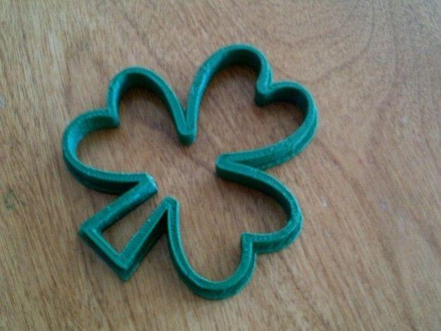 3D Printed Shamrock Cookie Cutter