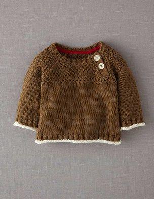 uk availability ba6b0 4d30e Pullover im Musterstrick Braun@Boden | Kids | Baby knitting ...