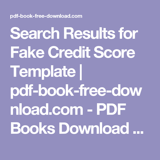 search results for fake credit score template pdf book free