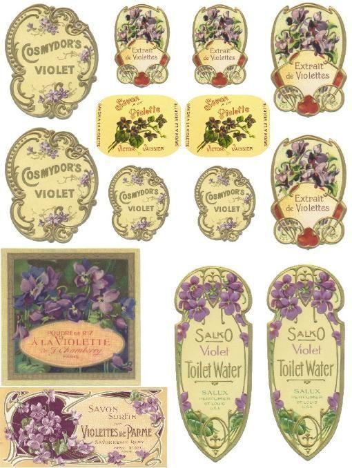 Perfume Label Vintage Labels Vintage Printables