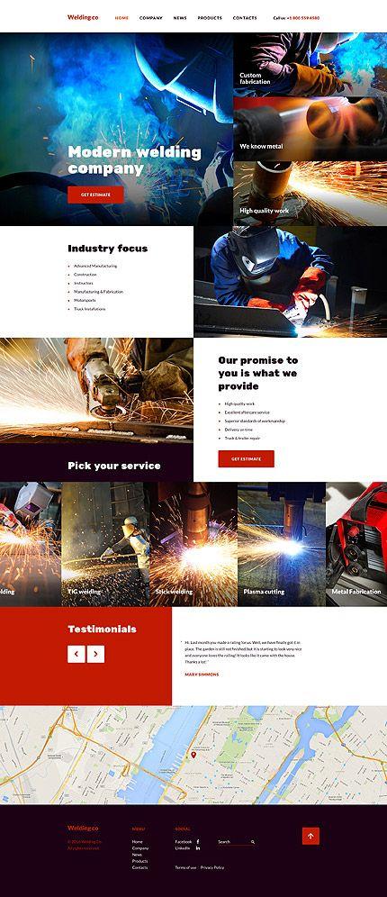 Welding Co Website Template This Responsive Welding Web - What website template is this