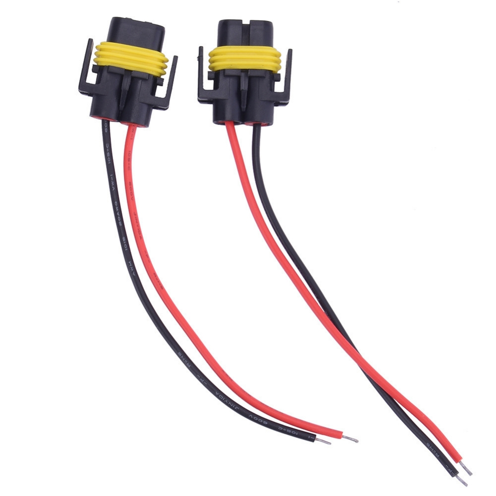 113 Watch Here 2pcs H8 H11 Wiring Harness Socket Female Adapter Car Light Auto Wire