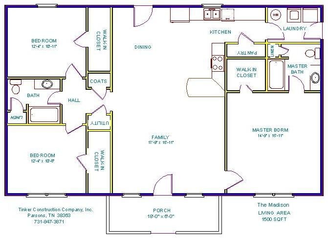 Tinker Construction Company Inc Floor Plans Home Design Floor Plans Ranch House Plans Ranch House Floor Plans