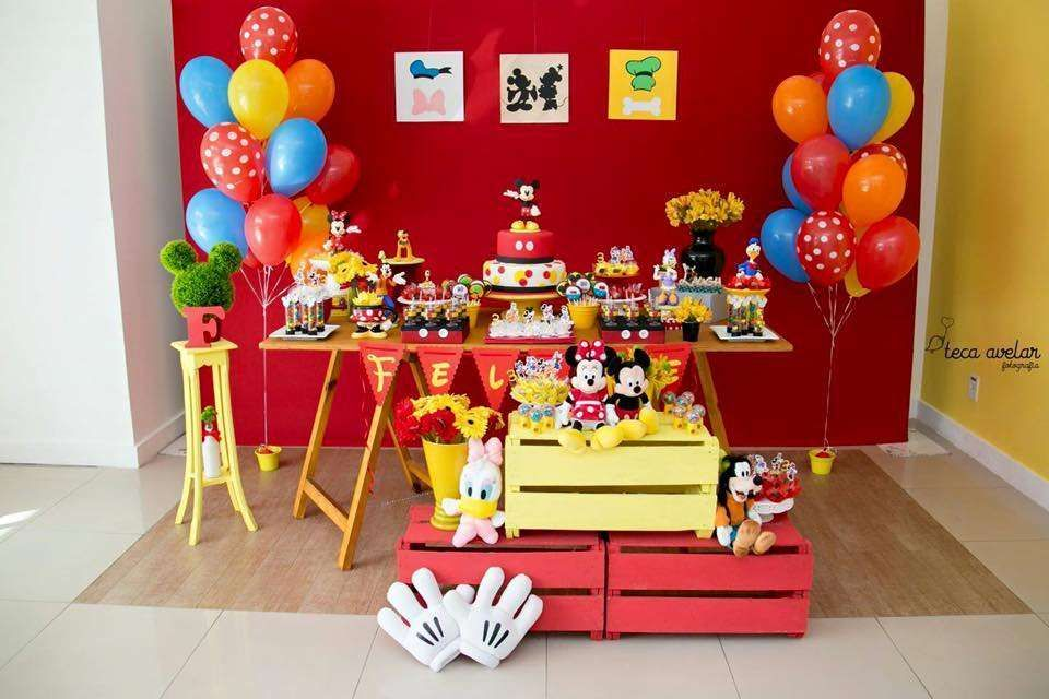 Creative dessert table at a Mickey Mouse birthday party! See more party ideas at CatchMyParty.com!