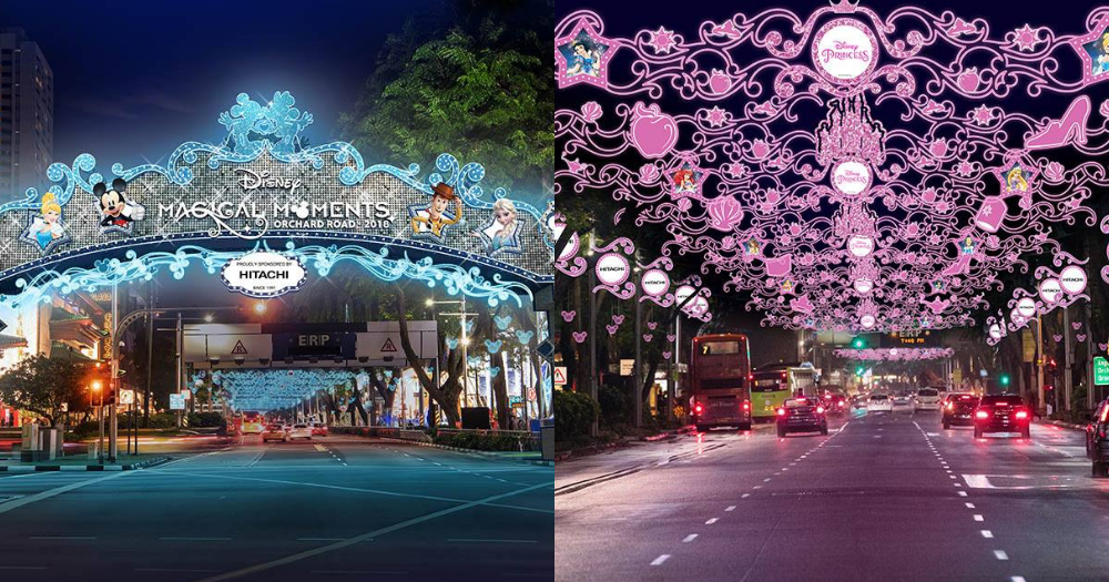 Disney Christmas Light Up In Orchard Road Largest In Southeast Asia From Nov 10 2018 To Jan 1 2019 Mothership Sg Chiếu Sang