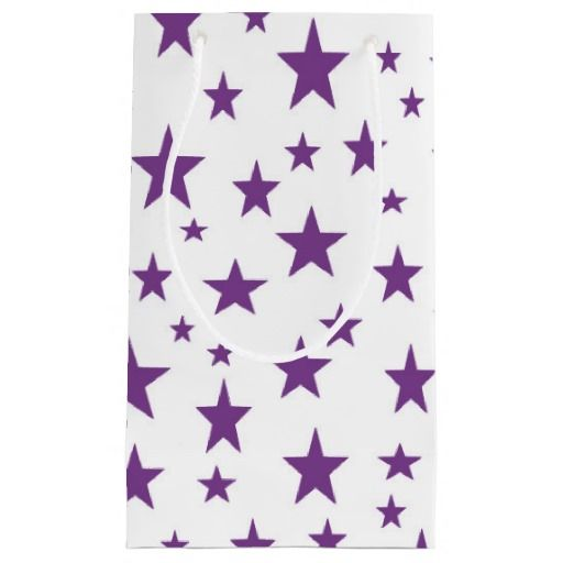 Purple Stars Gift Bag