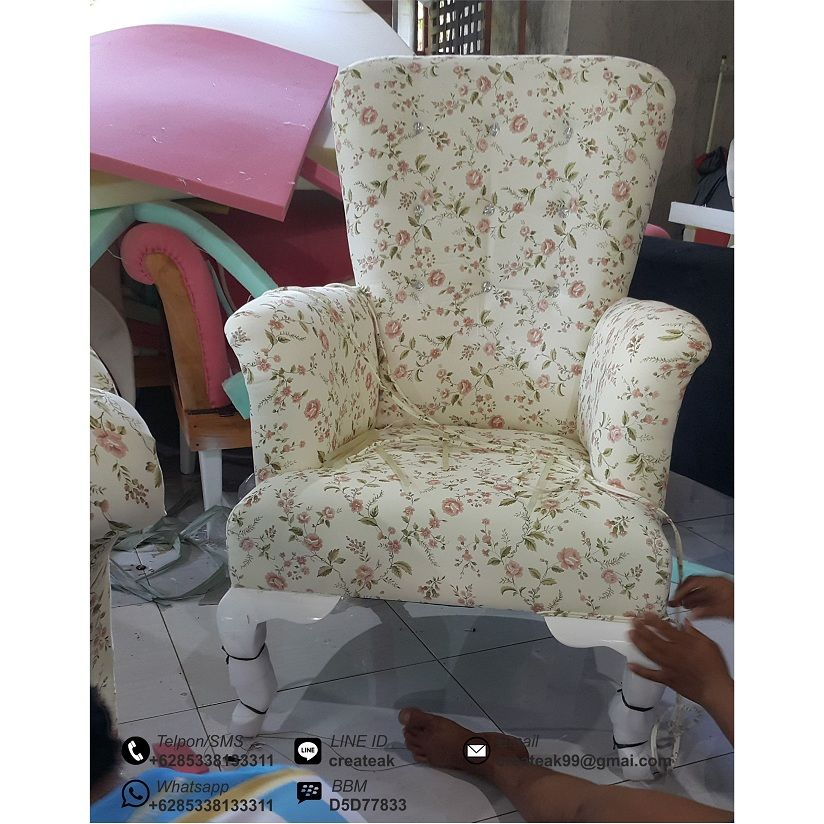 Sofa Minimalis Shabby Single Sofa Tamu Murah Sofa