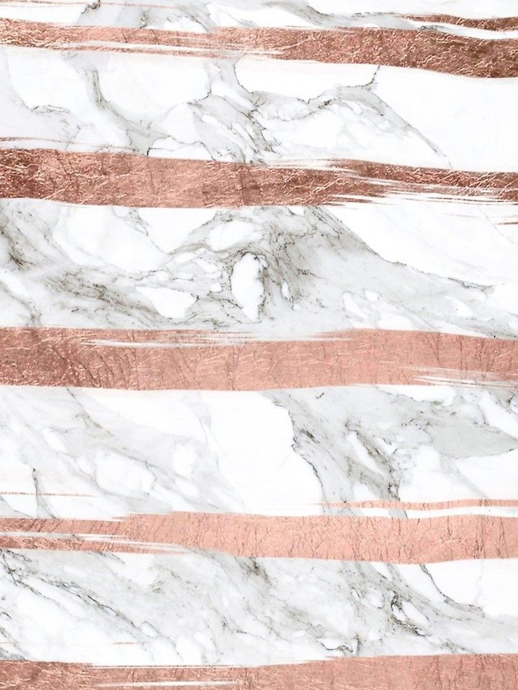 Modern Chic Faux Rose Gold Brush Stripes White Marble Iphone Case Cover By Girlytrend In 2021 Gold Wallpaper Rose Gold Wallpaper White Marble Iphone