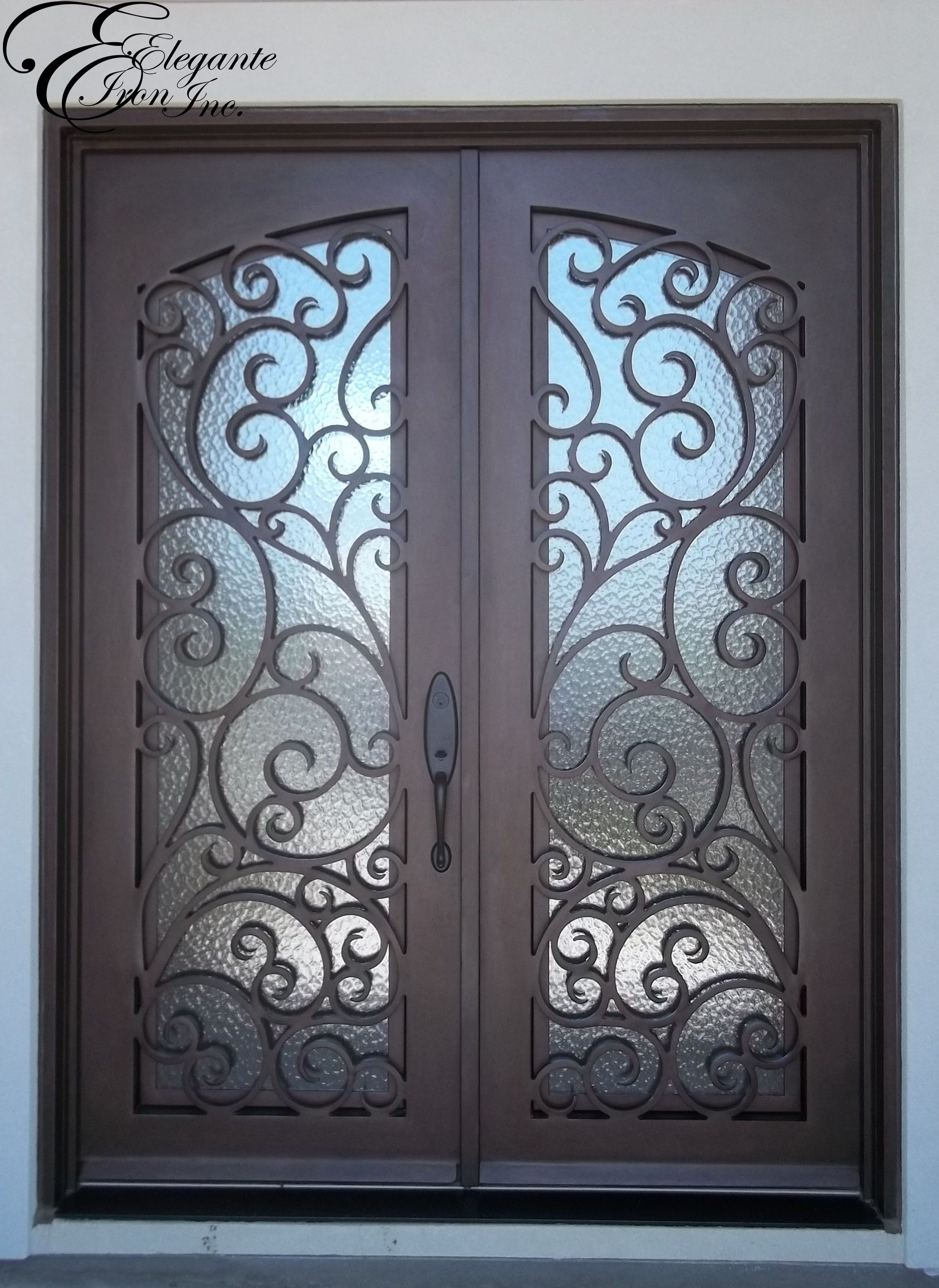 Custom Wrought Iron Door With Eyebrow Grille Wrought Iron Doors