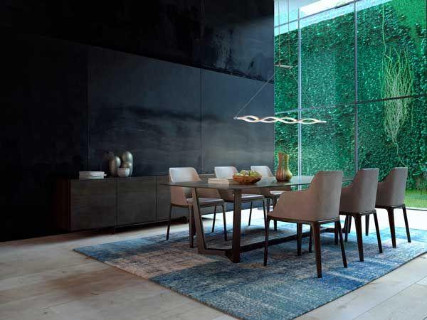 Lampara de techo minimalista sahara para comedor for Iluminacion minimalista interiores