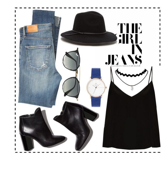 """""""⚡️"""" by amokik on Polyvore featuring косметика, Citizens of Humanity, Raey, Pierre Hardy и Ray-Ban"""