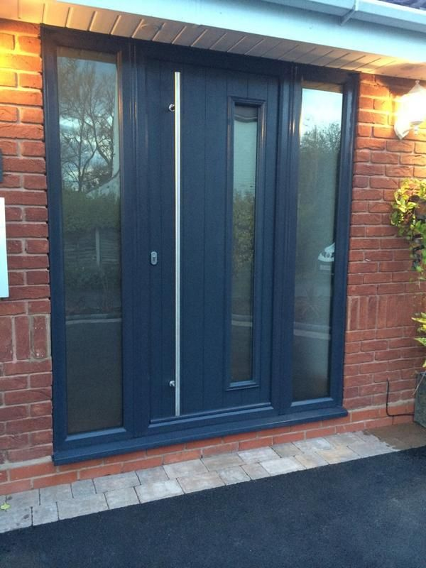 Brescia Anthracite Grey Matching Frame Contemporary Front Doors House Door