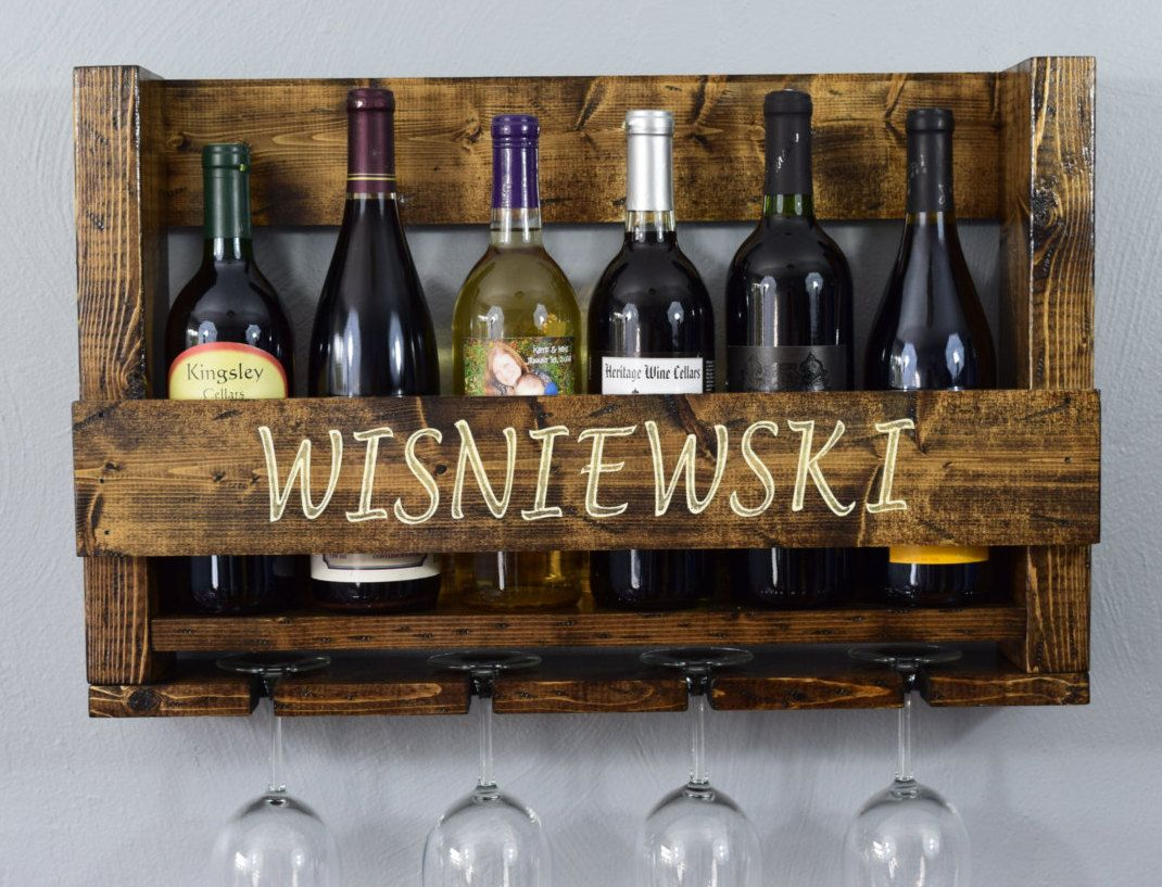 The Original Personalized Wine Rack L Wall Hanging Wine Rack L