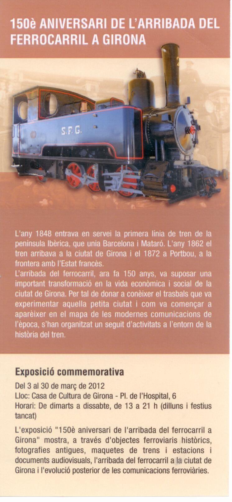 150 aniversario de la llegada del ferrocarril a Girona