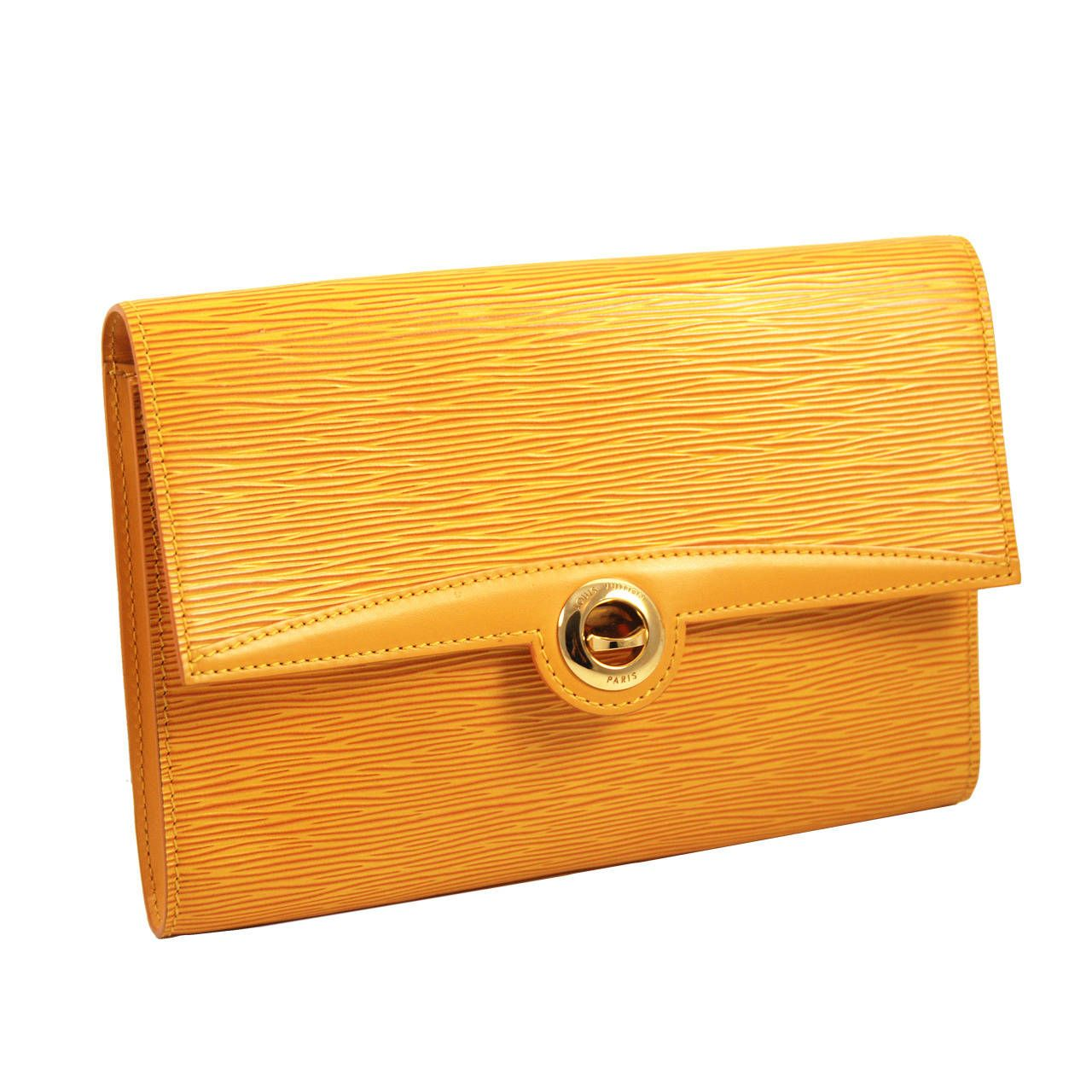 dd34e462726d Louis Vuitton Mustard Yellow Epi Leather Arche Clutch
