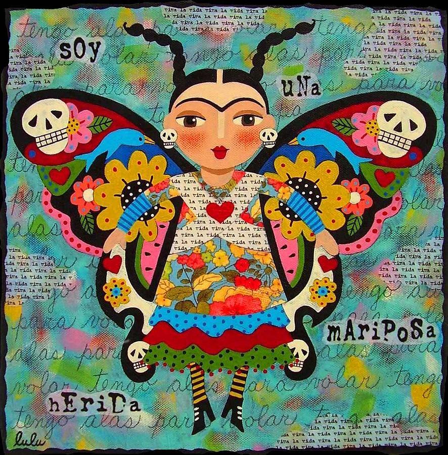 Frida Kahlo Butterfly Painting