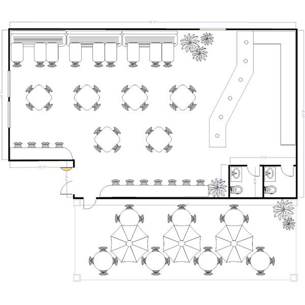 The success of any restaurant is about more than great for Restaurant layout floor plan samples