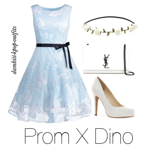 Prom X Dino by dambiii on Polyvore featuring Jessica Simpson, Yves Saint Laurent, Forever 21, seventeen and dino