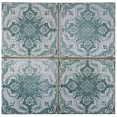 """Found it at Wayfair - Royalty Seagate 17.75"""" x 17.75"""" Ceramic Glazed Tile in Teal"""