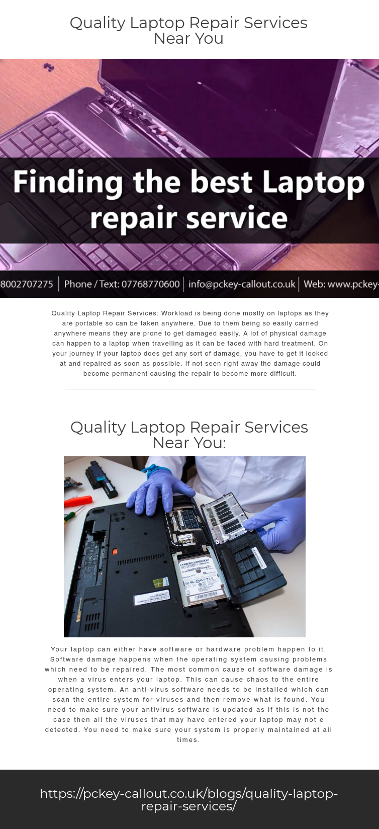 Quality Laptop Repair Services Workload is being done