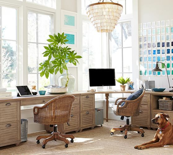 whitney rectangular desk design trend coastal style wood bead rh pinterest com