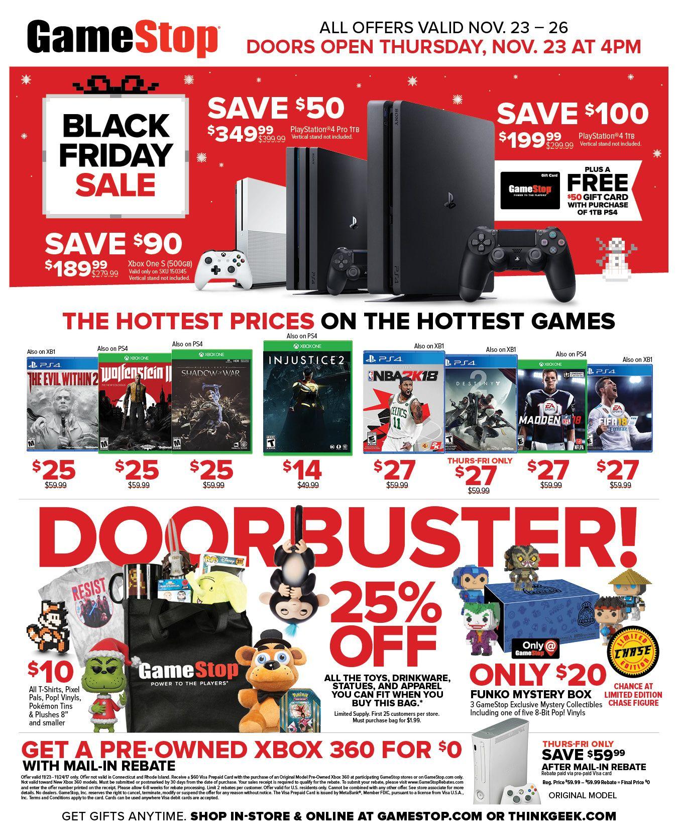 2017 Black Friday Deals Sales On Video Games Consoles More Gamestop Black Friday Ads Black Friday Black Friday Deals