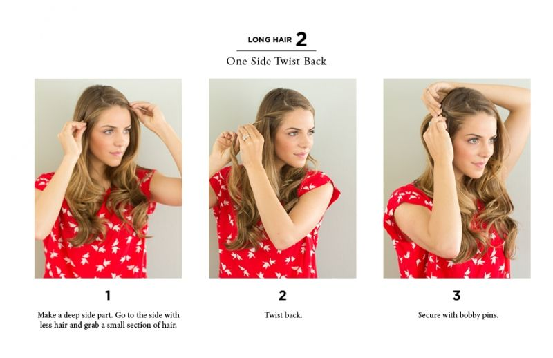 10 Easy Ways To Style Hair The Everygirl Long To Short Hair Hair Styles Short Hair Styles