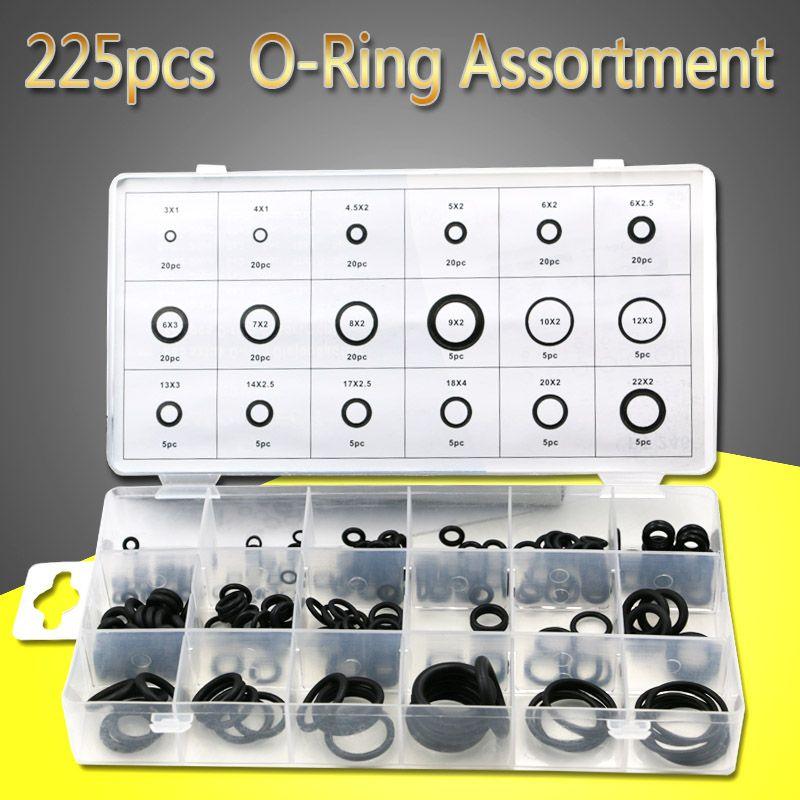 18 Größen 225 stücke Neue Werkzeug Gummi O-ring Washer Dichtungen ...