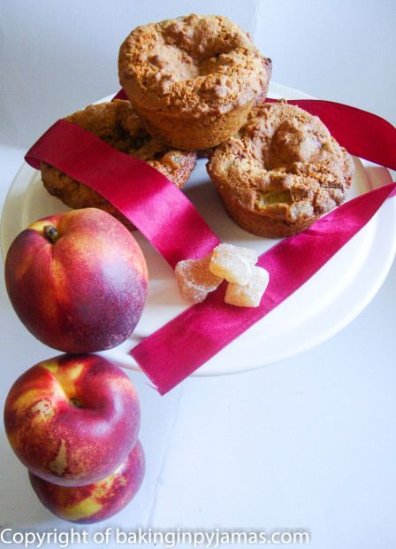 Nectarine and Ginger Muffins