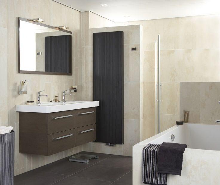 badkamer Baderie Quadro Line is een moderne badkamer met een warme ...