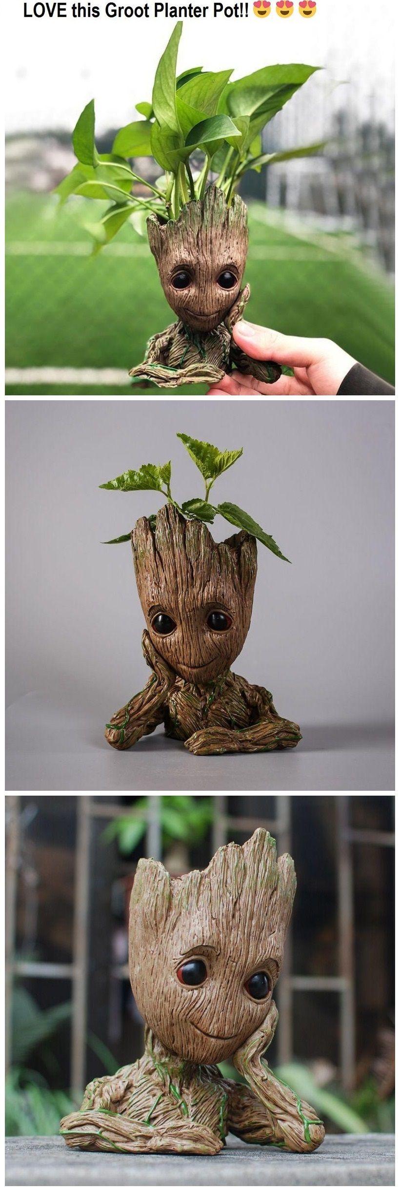 Groot Man Planter Pot Gift Stuff Jardins Deco Jardin Jardinage