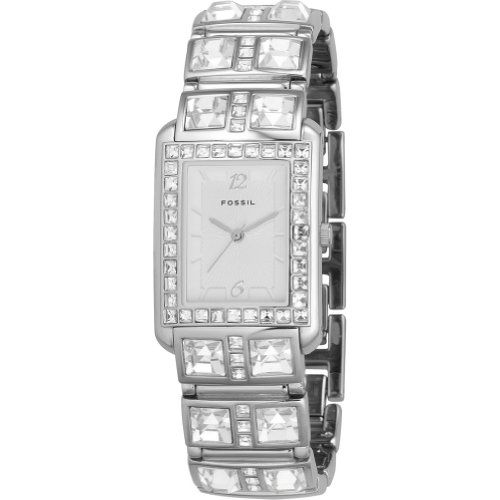 Fossil Glitz Silver Dial Ladies Watch ES1512 #Fossil #Glitz #Silver #Dial #Ladies #Watch #ES1512
