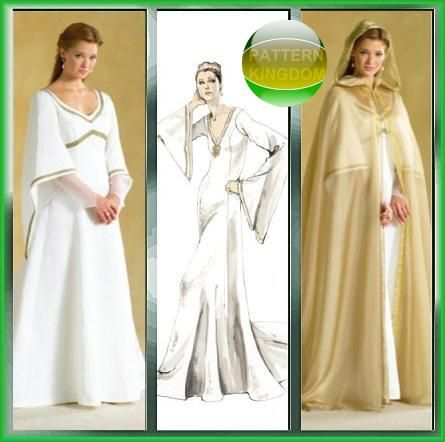 McCalls 4378 Medieval/Reniassance Fairy Tale Gown Hooded Cloak ...