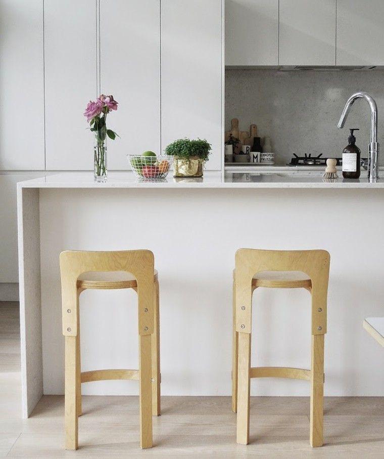 Diseños de cocina - los estilos más actuales | Sillas altas, Isla ...