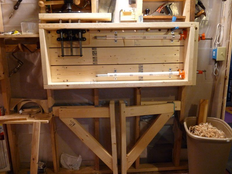 Fold Out Work Bench Part - 32: Wall-Mounted Folding Workbench