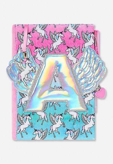 Winged Unicorn Initial Journal Justice Logosiconssymbols
