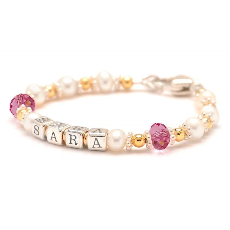 Baby Name Bracelets for Boys and Girls: Charm Bracelets - Lily ...